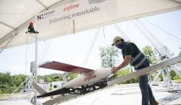 Zipline's delivery drones begin to deliver PPE and medical supplies in the U.S.