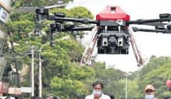 Drones launch aerial strike on virus